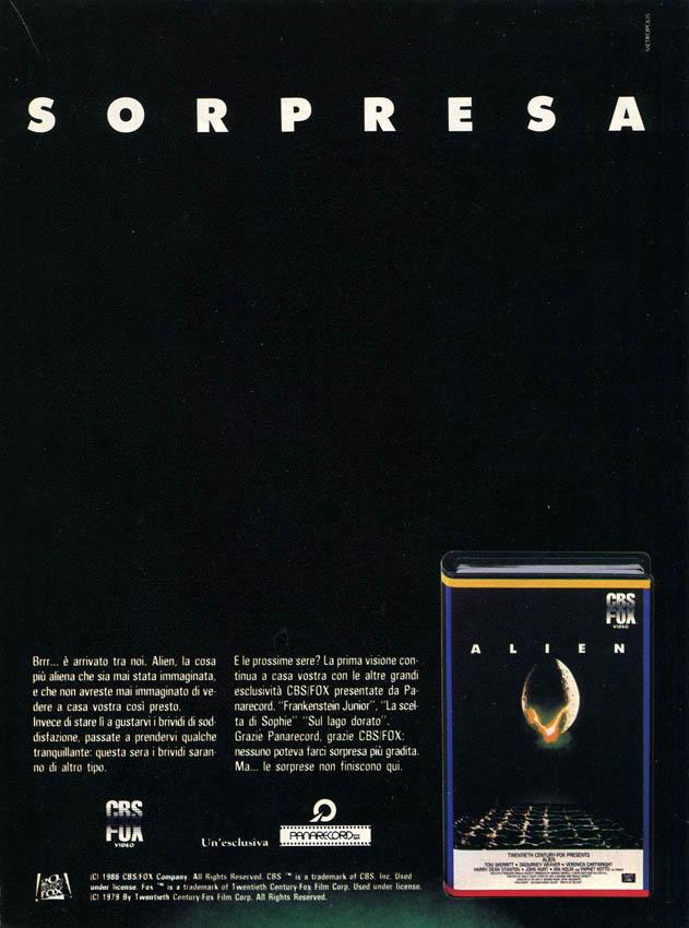 Alien VHS spot