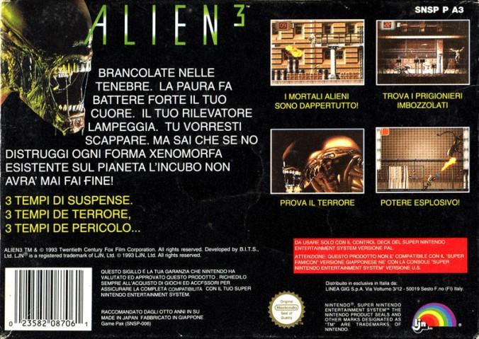 Alien 3 SNES B