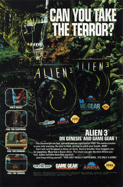 Good Old Games Ads #10.1: Alien 3, le anteprime