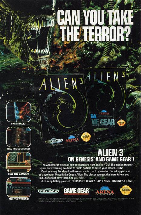 Alien3 Genesis spot