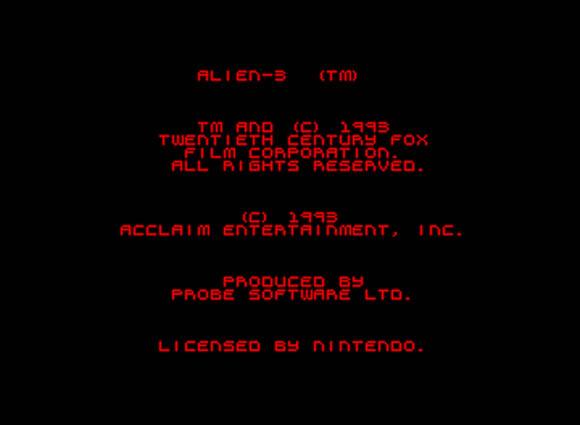 Alien3 Snes B