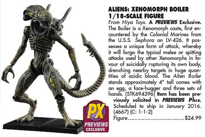 PX Alien Boiler (Previews 328, 2016-01)