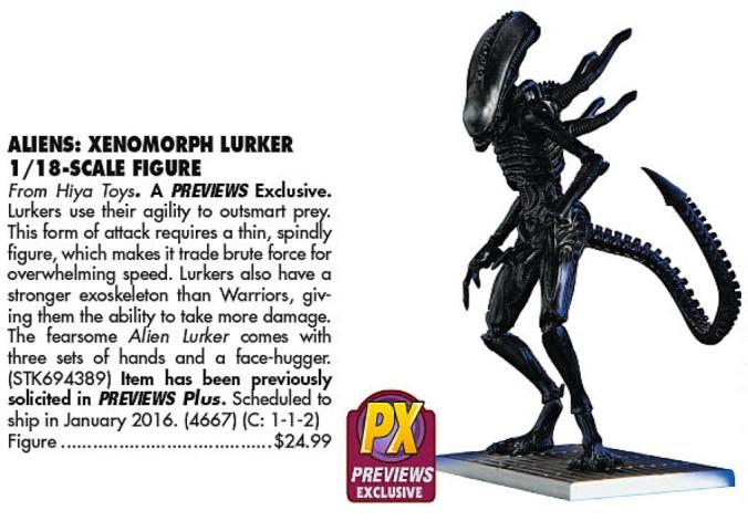 PX Alien Lurker (Previews 328, 2016-01)