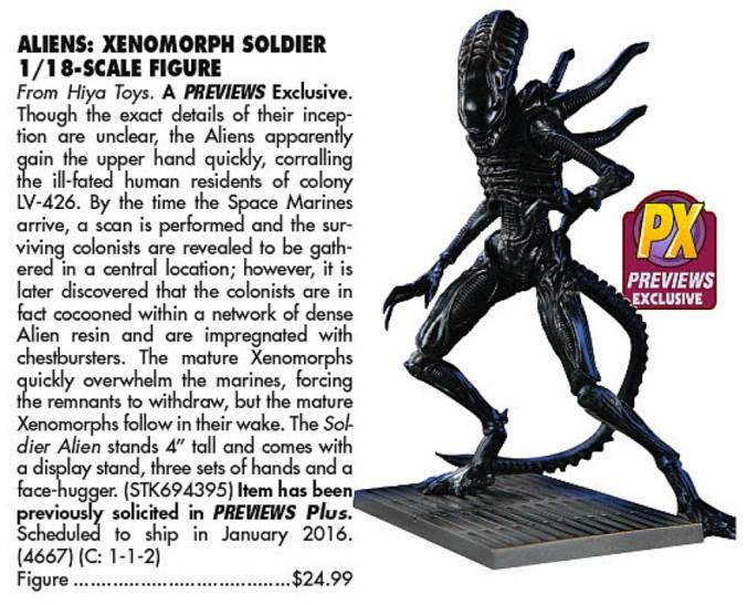 PX Alien Soldier (Previews 328, 2016-01)