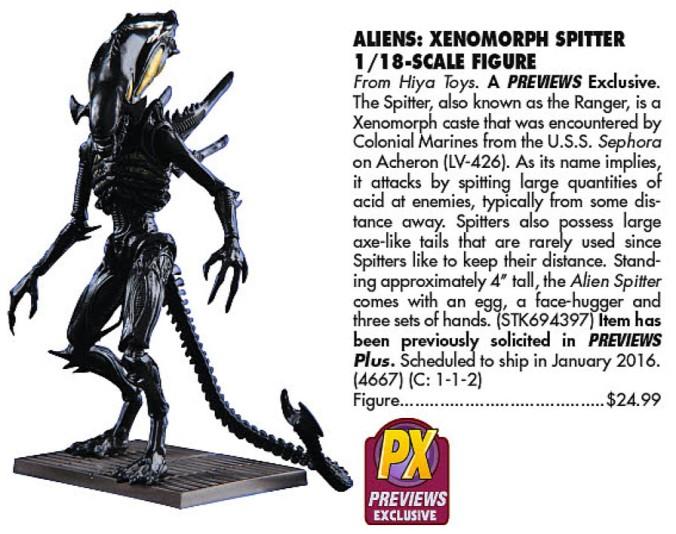 PX Alien Spitter (Previews 328, 2016-01)