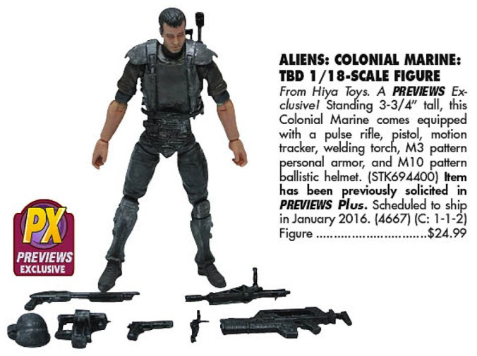 PX Colonial Marines (Previews 328, 2016-01)