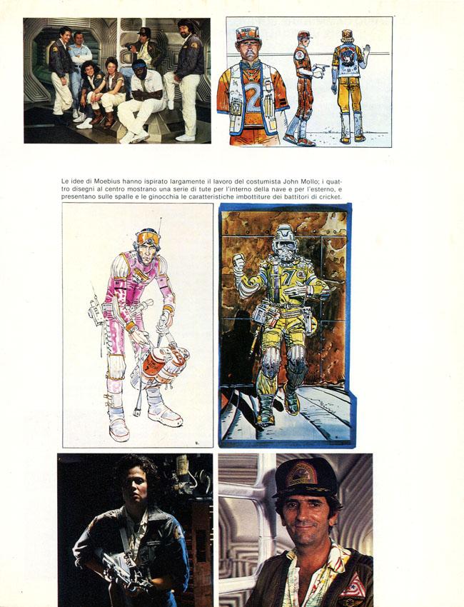 Splendidi bozzetti di Moebius per i vari personaggi