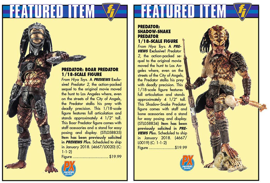 Hiya Toys – Due Predator in arrivo nel 2018