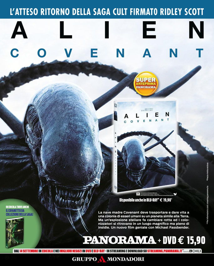 Alien Covenant in DVD in edicola