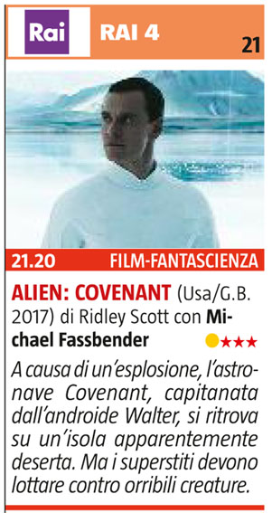 [2020-03] Alien Covenant su Rai4