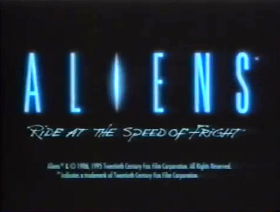 Aliens: Ride at the Speed of Fright (1996)