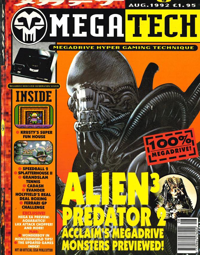 """[1992-08] Alien 3 su """"Megatech"""""""
